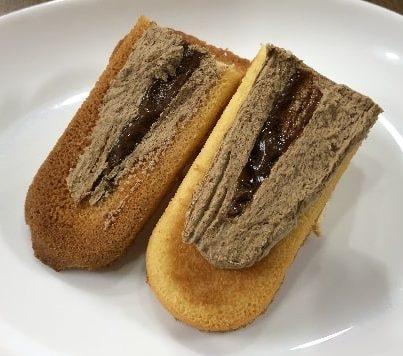 """<img src=""""image.jpg"""" alt=""""香ばしいクッキーのクリームサンド(コーヒー)"""">"""