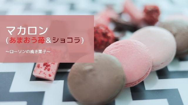 Eye catch:lawson strawberry chocolate macaron